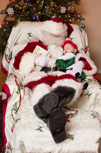 sleepy santa | Desiree Prakash Studio