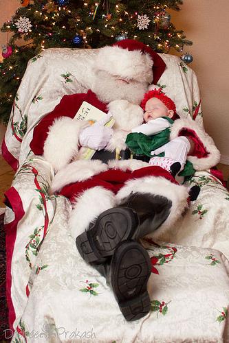 sleepy santa | Desiree Prakash Studio