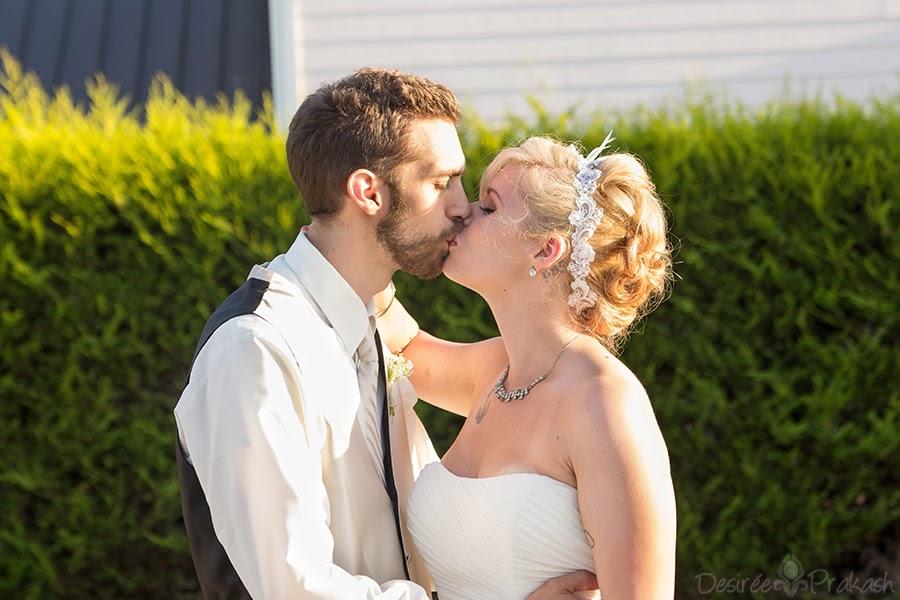 wedding kiss | Desiree Prakash Studio