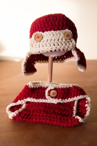 earflap hat and diaper cover | Desiree Prakash Studio