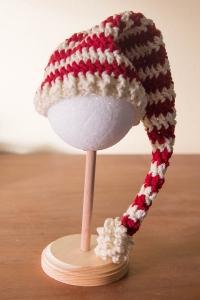 Red stripe elf hat | Desiree Prakash Studio