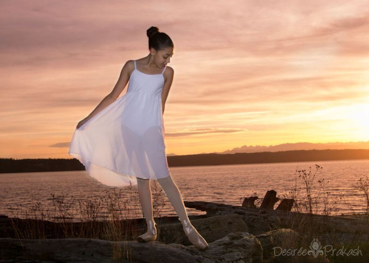 Dancer at the Beach | Desiree Prakash Studio