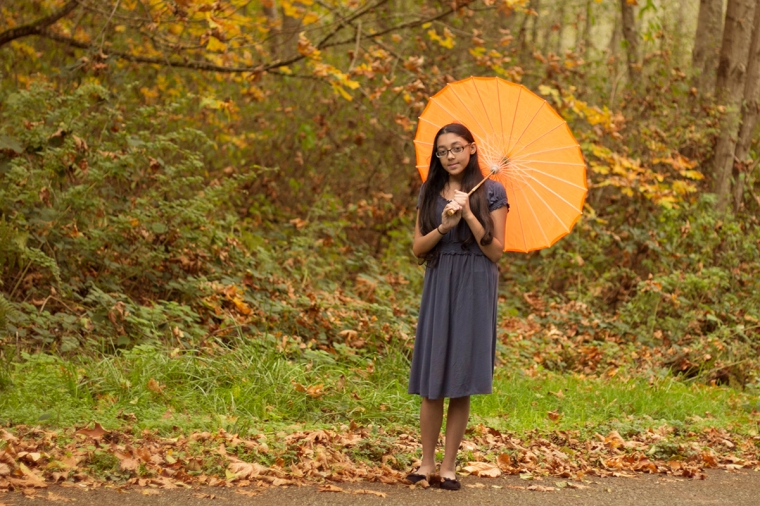 girl with a parasol | Camano Island Photography
