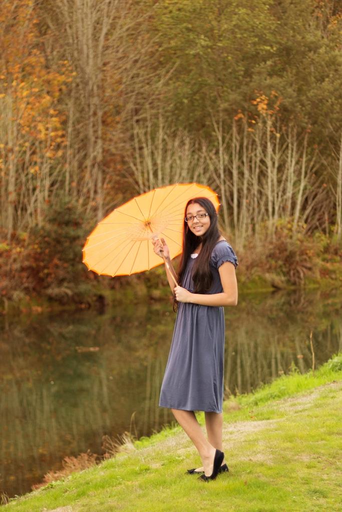 girl with a parasol | Camano Island Photography